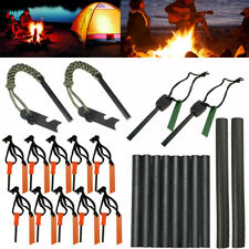 Lots Emergency Magnesium Flint Fire Starter Rod Lighter Survival Gear Camping
