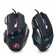 Gaming Mouse 7 Button USB Wired LED Optical 5500 DPI Laptop PC Professional Game