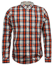 Timberland Meriden Check Button Down Plaid Mens Shirt Top 2566J 852 UA159