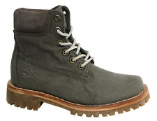 bb37e9b49adf Timberland Earthkeepers Lace Up Green Textile Womens Boots A1GS7 U19