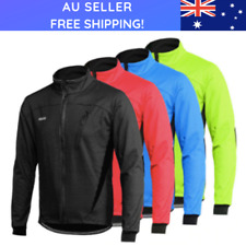 Mens Cycling Waterproof Jacket Thermal Windproof Mountain Bike Fleece