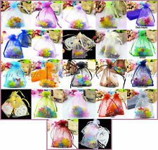 25 Organza Sheer Gift Bag Wedding Party Favour Candy Jewellery Pouch