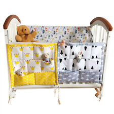 Baby Bed Hanging Storage Bags 3 Layers Bedding Crib Diaper Organizer Pockets
