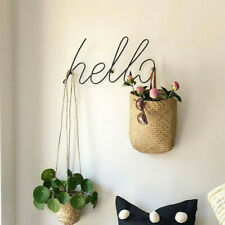 1PC Wire Letters Home Decor Interior Wall Sign Gift Love Happy Wall Decorative