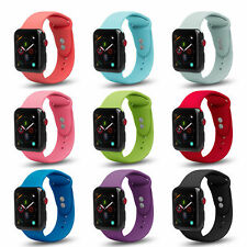 Apple Watch Soft Silicone Sport Strap Loop Replacement Band Series 4 3 2 1 Nike+