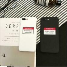 Couples UNBreak Phone Cases Warning Letter Black Case For iPhone X 8 7 6 6S Skin