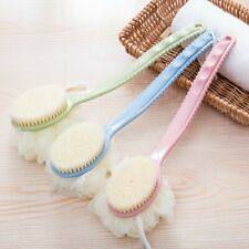 Long Handle Exfoliating Bamboo Bath Brush Back Scrubber Body Brush Sponge Loofah