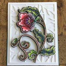 Flower Clear Stamps and Dies Blossom Metal Cutting Dies New 2019 for