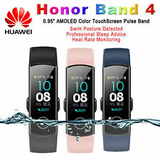 "NEW Huawei Honor Band 4 Wristband 0.95"" AMOLED Touch Screen Bluetooth Heart Rate"