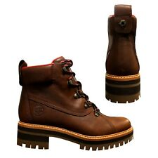 Timberland Courmayeur Valley Hiking Womens Nubuck Lace Up Boots Brown A1RS7 D96