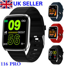 NEW 116 PRO Smart Bluetooth Waterproof Watch Fitness Tracker Heart Rate Monitor