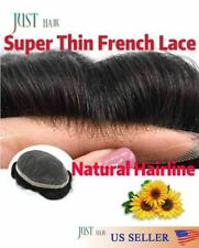Undetectable French Lace Hair Replacement System Mens Toupee Hairpieces for Men