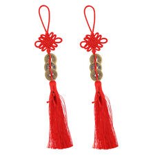 Chinese Knot Tassel Feng Shui Coin Pendant Lucky Amulet Wall Hanging Decor