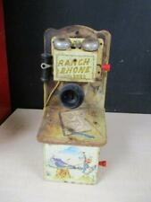 "VINTAGE 1950'S WESTERN COWBOY TOY ""RANCH PHONE"" BY GONG BELL MFG. CO"