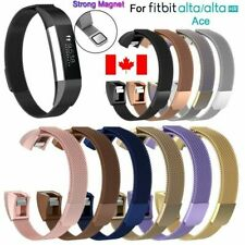Replacement Stainless Steel Magnetic Milanese Band Strap For Alta ACE HR