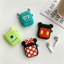 For Apple Airpods Covers Skins Cute 3D Cartoon Silicone Earphone Protective Case