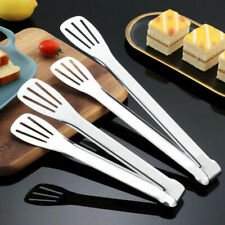 Bread Steak Tongs BBQ Stainless Steel Clip Kitchen Cooking Food Serving Utensil