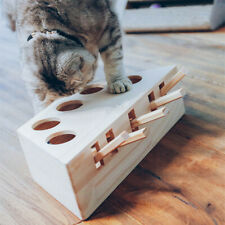 Wooden Cat Toys Pet Indoor Solid Cat Hunting Toy Interactive Cats Play Toy