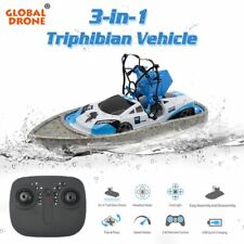Mini Drones Boat Triphibian Vehicle Toys RC Helicopter Dron Quadrocopter for Kid