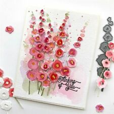 Metal Cutting Dies Hollyhocks Flower Stencils Scrapbook Cuts Embossing DIY Craft