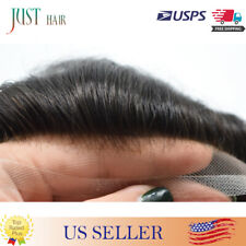 Breathable French Lace Hairpieces Full Lace Mens Custom Brown Hair Unit For Men