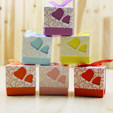 10pcs Favor Ribbon Gift Box Candy Boxes Wedding Boxes Gift Favor Flower Party