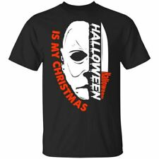 Halloween is My Christmas Scary Horror Movie T Shirt Michael Myers Black Navy