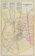 1877 Map of Salisbury Wicomico County Maryland
