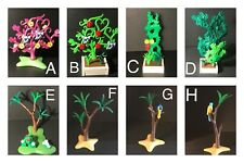 Playmobil Bush Flat Tree Vines  Forked Leaf Parrot Flowers Unicorn Replacement