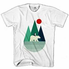 NEW ARRIVAL SIMPLE MOUNTAIN AND BEAR MAN / WOMAN T-SHIRT USA SIZE S TO 3XL HA1