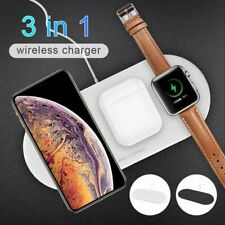 Qi Wireless Charger Pad 3 in 1 For iPhone 8 8+ X XS XR XS MAX + iWatch + Airpods