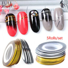 Silver Tape Stickers Nail Art Striping Line DIY Manicure Nail Sticker Foil