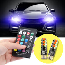 12V Car RGB LED T10 W5W LED RGB 5050 SMD Signal Lamp Reading Wedge Light Car