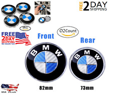 BMW Logo EMBLEM Replacement for HOOD or TRUNK, Front 82mm - Rear mm- Center 68mm