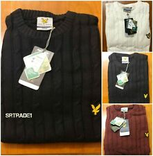 BNWT LYLE AND SCOTT LONG SLEEVE CREW NECK CABLE KNIT JUMPER FOR MEN!!!
