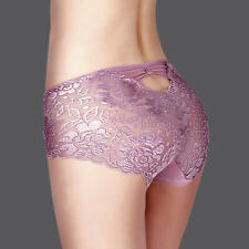 Women Sexy Thong Seamless Underwear Briefs Panties Floral Lace Knickers Lingerie