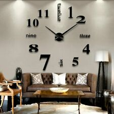 3D Wall Clock Mirror Wall Stickers Removable 4 Color Self-Adhesive Art Decal