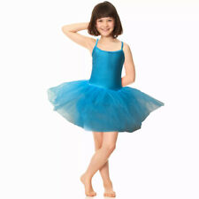 Aqua Blue Tutu Leotard Girls Dance Halloween Deluxe Fancy Dress Costume Ballet