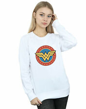 DC Comics Women's Wonder Woman Circle Logo Sweatshirt