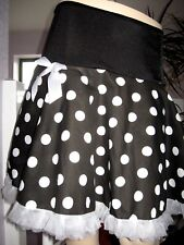 Black,White Spot Skirt Lolita,Punk,Emo,Rock,Gothic,LBG