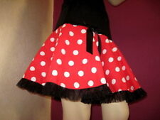 New Black White Red Spotted frilly Skirt Rockerbilly Gothic Lolita Party Dance