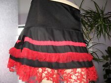 Showgirl Black, Red Lace Tutu  Skirt Dita,Lolita,Gothic