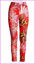 Versace for H&M Red Patterned Stretch Twill Jeans Trousers UK 14 12 10 New BNWT