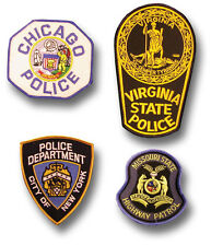 1 GENUINE US STATE / CITY POLICE CLOTH BADGE / PATCH