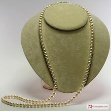 **MG** Collana Perle bianche TOP 7-7½mm L80 in Oro 18K