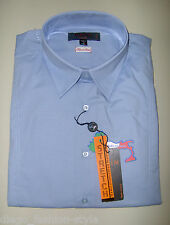 TIPO'S Camicia Uomo Slim Fit cotone Stretch colore CELESTE (100% made in Italy)
