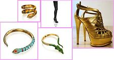 Anna Dello Russo Snake Bracelet Sunglasses H&M Gold Green Black New BNWT