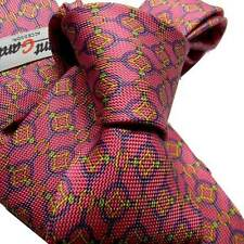 TOP TIE SOIE MADE ITALY ROSA PINK ROSE CORBATA NECKTIE FANTASY TOP QUALITY