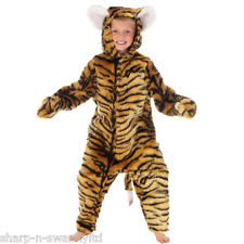 Boys Girls Kids Deluxe Furry Tiger Zoo Animal Fancy Dress Costume Outfit 3-12yrs