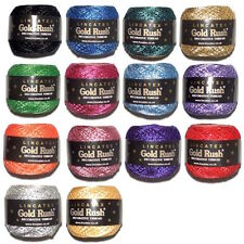 Lincatex Gold Rush 4 ply Chainette Yarn 80 meters Red, Orange, Green, Pink, Blue